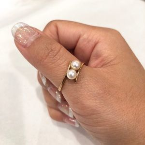 *NWT* 14K Gold + Authentic Pearl Ring